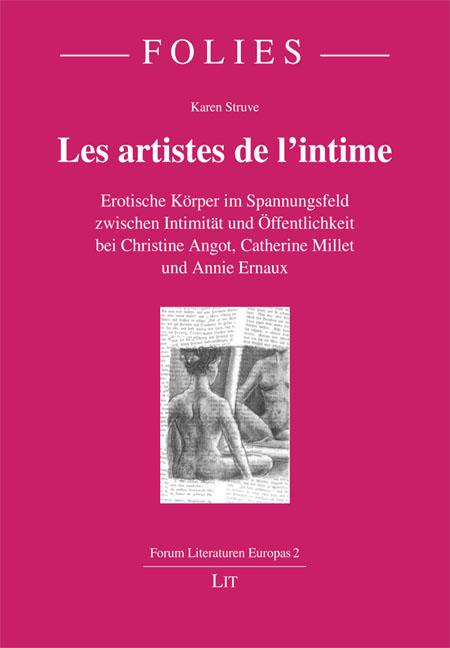 """Cover """"Les artistes de l'intime"""""""